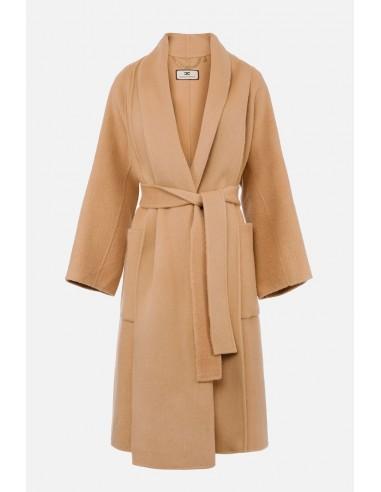 Elisabetta Franchi Vestido estilo bata sobre casaco - altamoda.shop - CP29H07E2