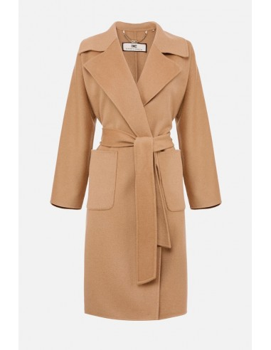 Abrigo estilo bata con solapas Elisabetta Franchi - altamoda.shop - CP31W07E2