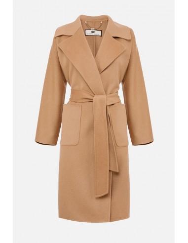 Robe de chambre Elisabetta Franchi, manteau avec revers - altamoda.shop - CP31W07E2