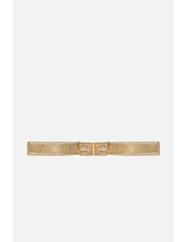 Elisabetta Franchi Pasek z przeplatanym złotym wzorem - altamoda.shop - CT50D06E2