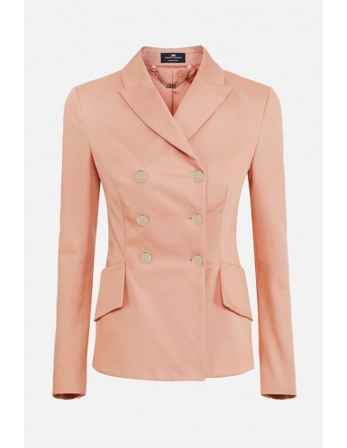 Elisabetta Franchi Double-breasted jacket with buttons - altamoda.shop - GI92406E2