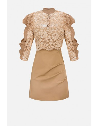 Elisabetta Franchi kanten jurk met volants - altamoda.shop - AB08107E2