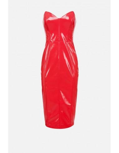 Elisabetta Franchi Vestido com efeito vinil - altamoda.shop - AB13007E2