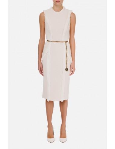 Vestido sin mangas con cinturón de cadena Elisabetta Franchi - altamoda.shop - AM68S07E2