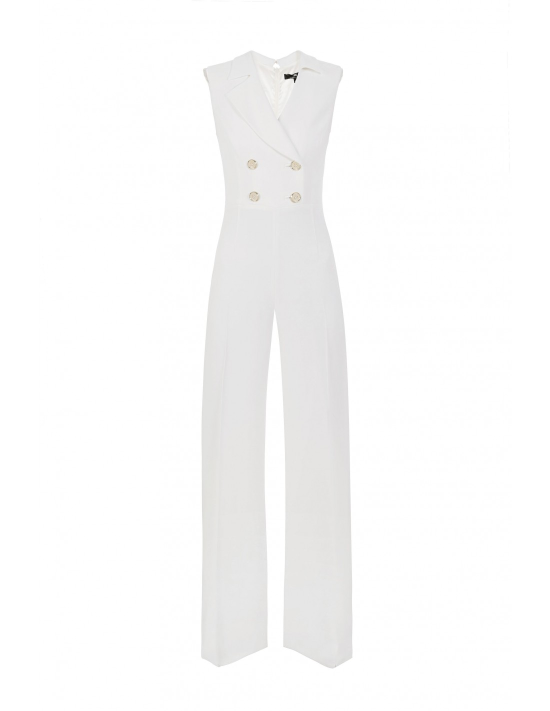 f4f1c517b066 Elisabetta Franchi Jumpsuit in ivory with Palazzo-Pants