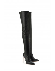 Elisabetta Franchi over-the-knee boots with glossy effect