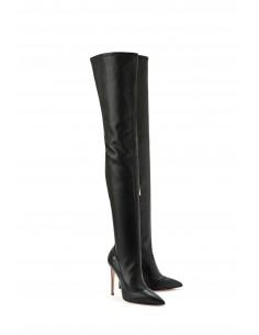 Elisabetta Franchi over-the-knee laarzen met glanzende werking