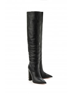 Elisabetta Franchi Leather Boots with Studs