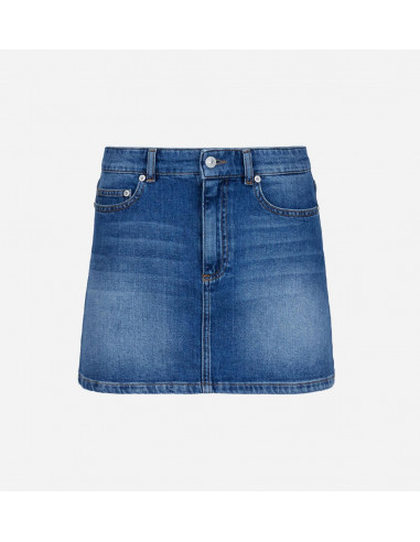 Denim Eye Star Mini Skirt 71CBE802_SKIRT_INDIGO_26