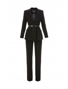Elisabetta Franchi Outfit of Jacket and Trouser with belt