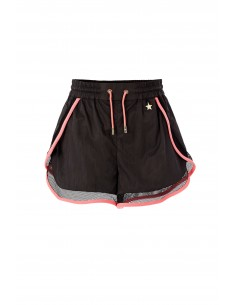 Elisabetta Franchi Sporty Shorts in Black/Coral