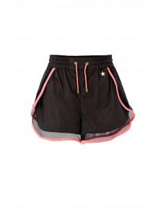 Elisabetta Franchi Sporty Shorts in Black/Coral