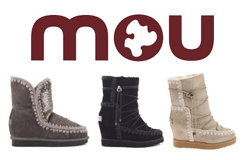 3 botas da marca MOU