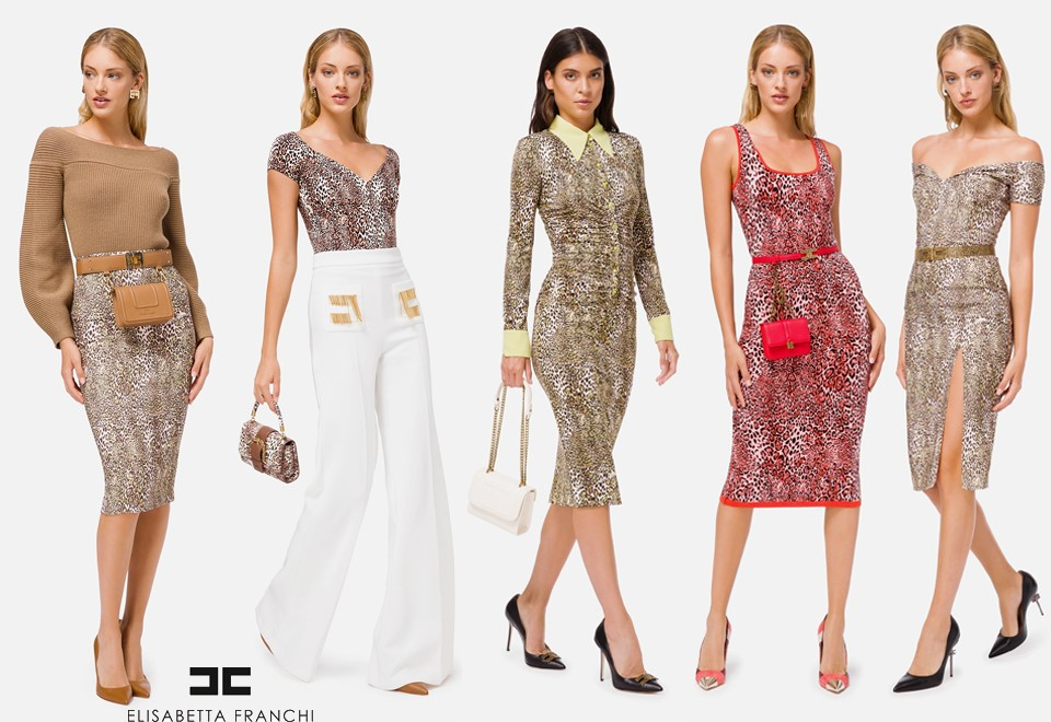 5 Women dressed in Elisabetta Franchi Clothes - Winter Collection 2020