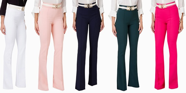 Elisabetta Franchi - Trousers with belt
