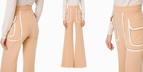 Elisabetta Franchi - Palazzo trousers with pockets