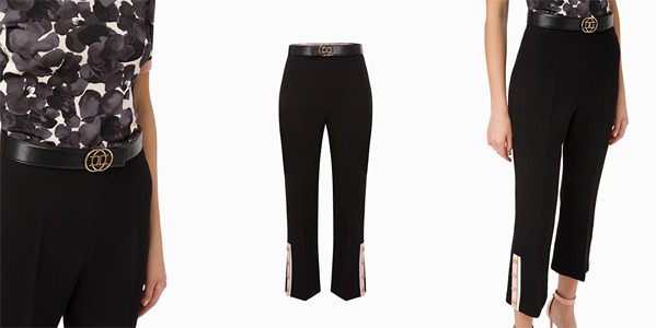 Elisabetta Franchi - Capri trousers with belt