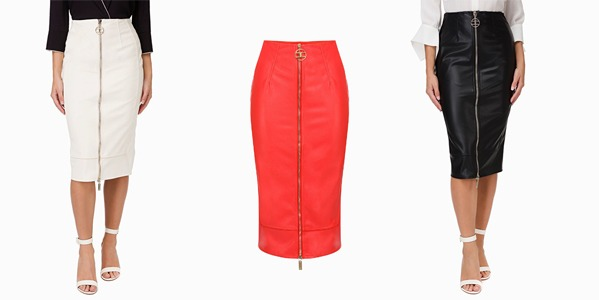Elisabetta Franchi - Faux leather skirt