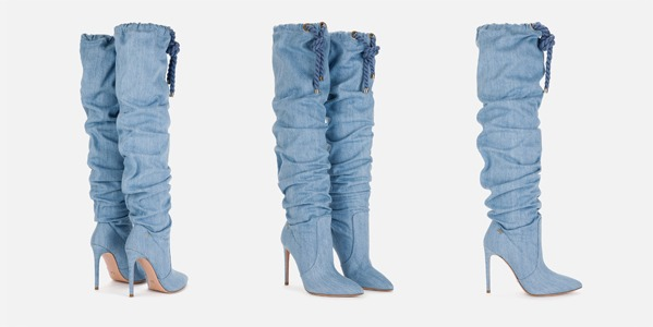Elisabetta Franchi overknee boots made of denim