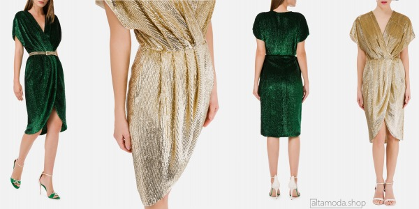 Elisabetta Franchi Wraparound dress with embroideries