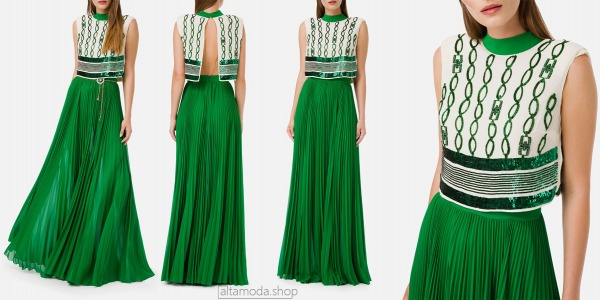 Elisabetta Franchi Pleated long dress