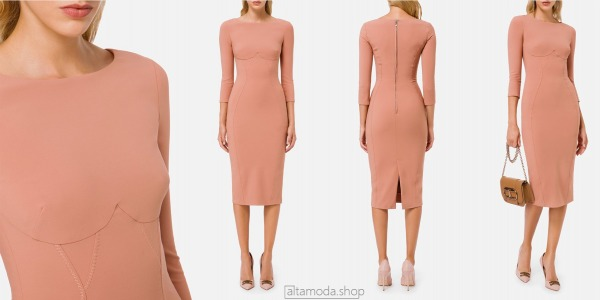 Elisabetta Franchi Pencil dress with 3/4 sleeves