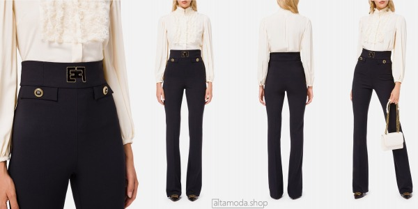 Elisabetta Franchi Skinny trousers with logo